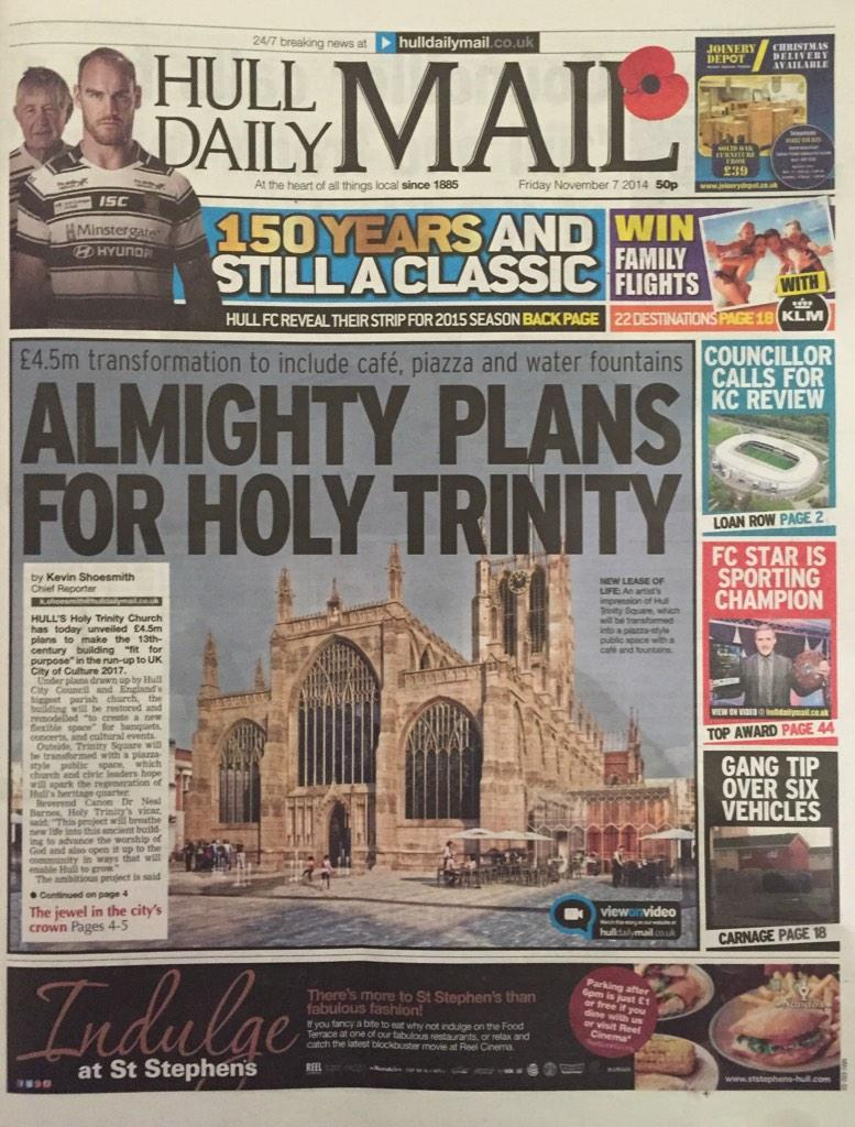 Hull Daily Mail Front Page